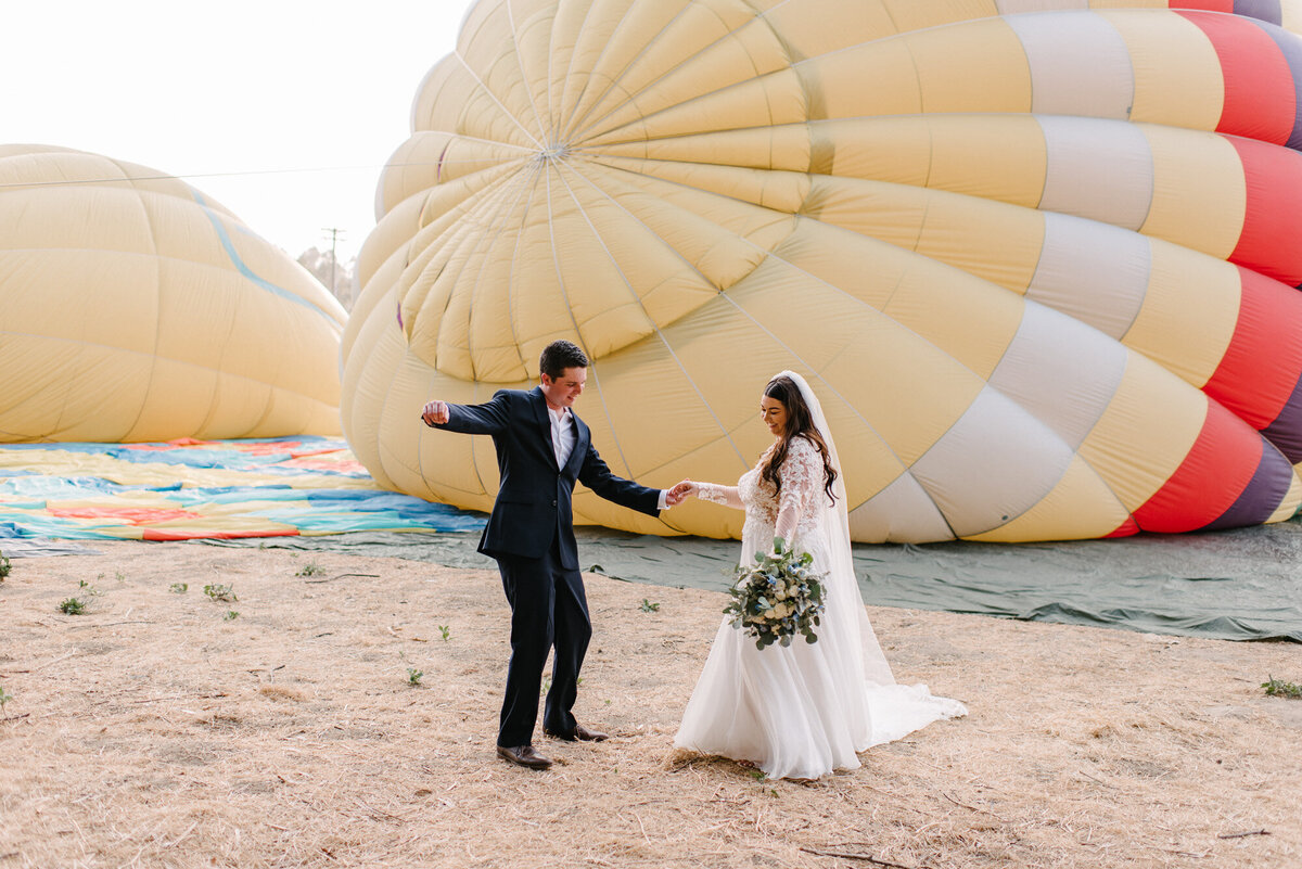 Hot Air Balloon Elopement Marie Monforte Photography-99