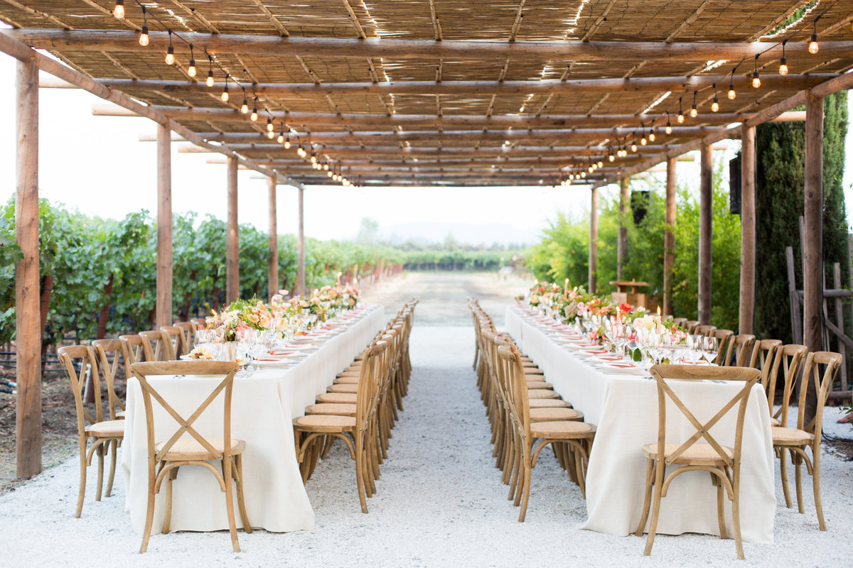 Social event by Jenny Schneider Events at Round Pond Estate in Napa Valley, California. Photo by Eric Kelley Photography.