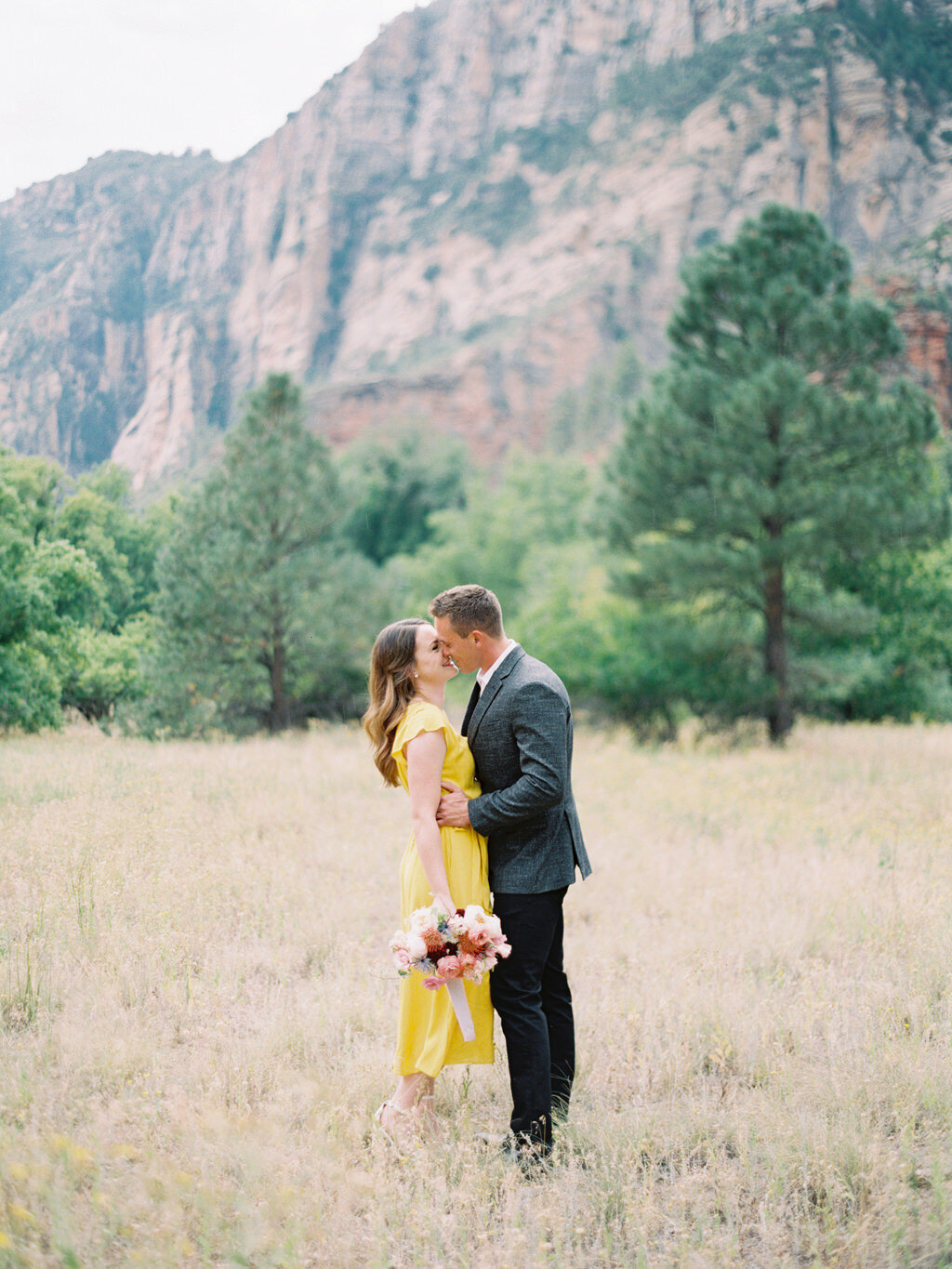 Aubrey & Joey Sedona West Fork Trail Fall Fine Art Engagement Session Ball Photo Co-3