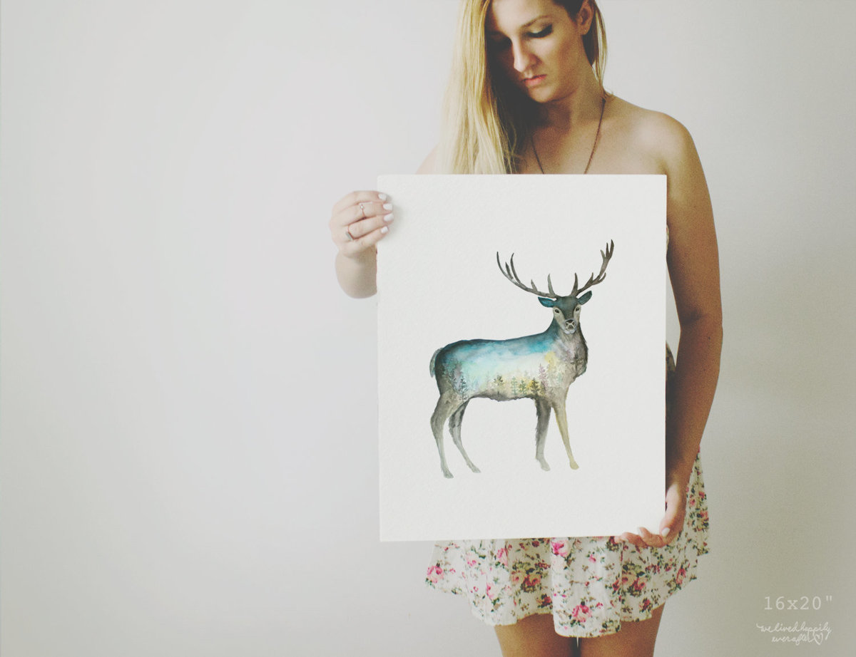 Galaxy_Deer_Buck_Profile_Mountain_Night_Printable_Artwork_-_Animal_Nursery_-_Watercolor_-_Northern_L-482415380-_1