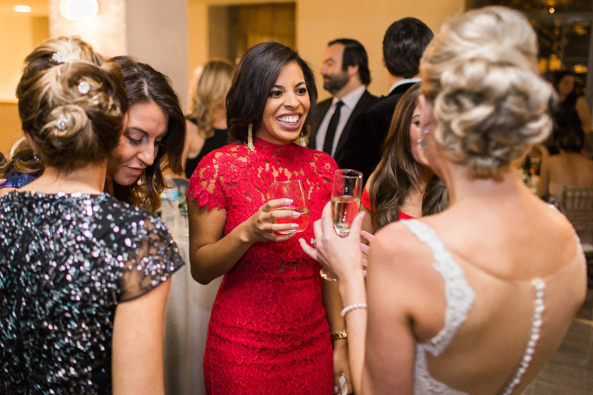 Cocktail hour wedding photo by Biltmore Ballrooms photographer Rebecca Cerasani.