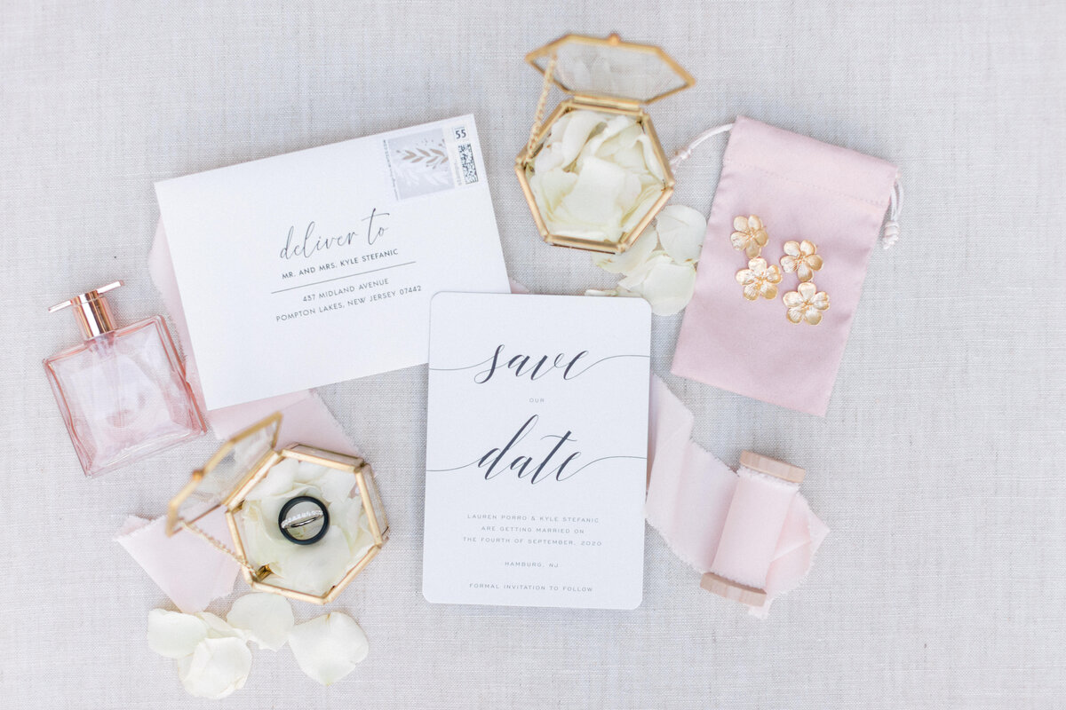 Wedding Invitation Flatlay Styling