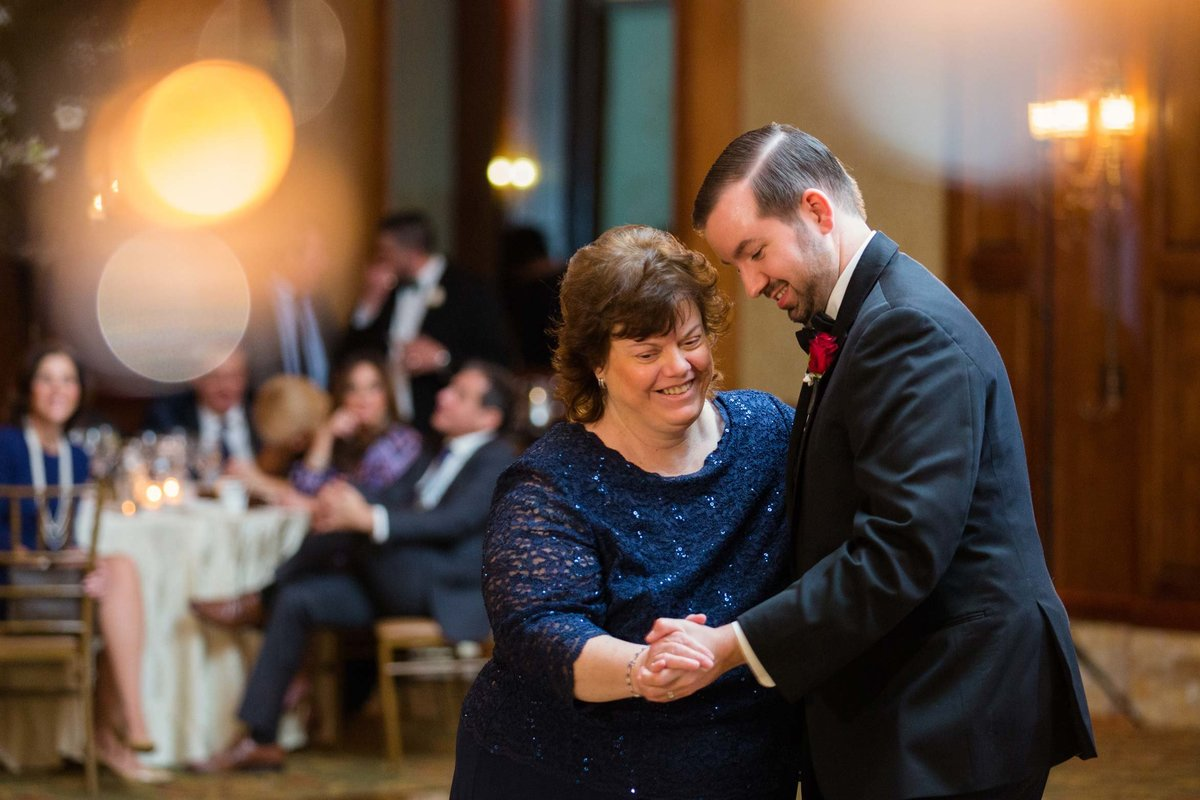 Groom and mom dance photo taken at Larkfield Manor