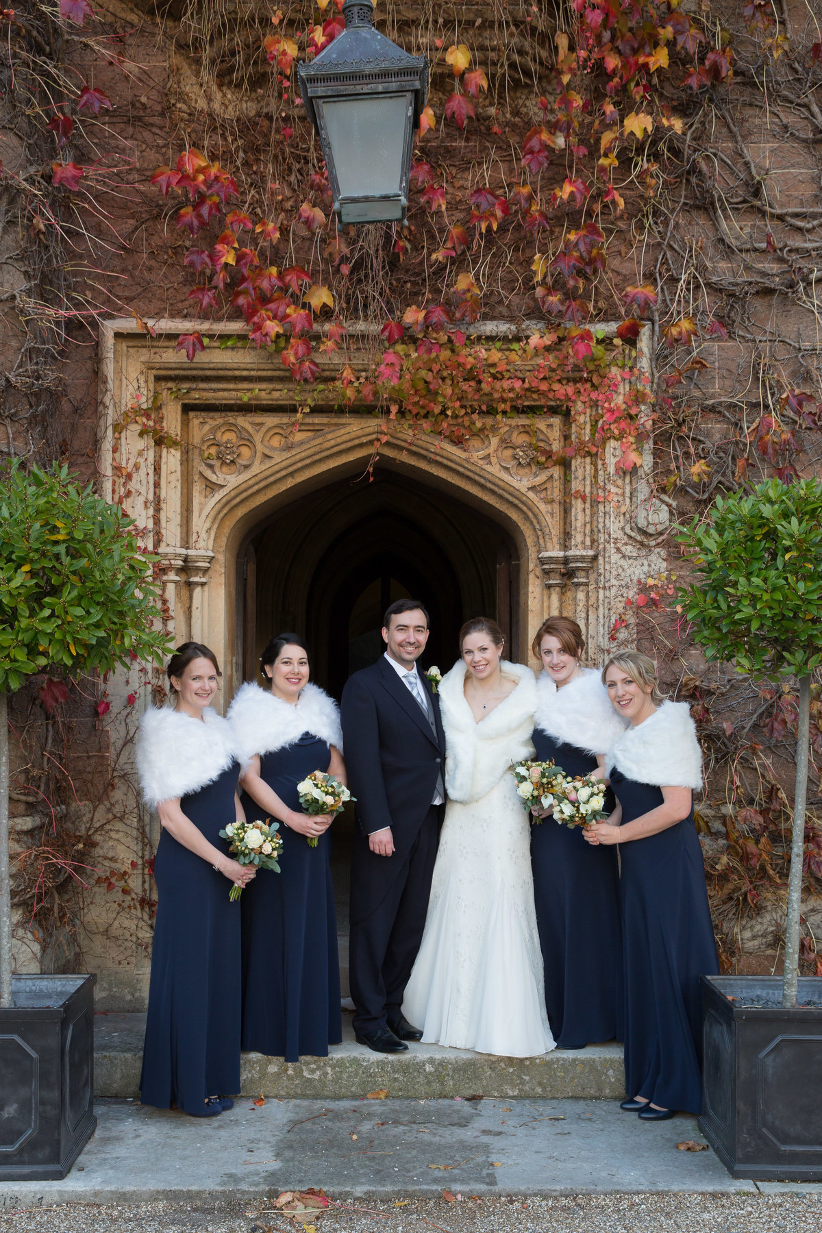 st audries park winter wedding photo
