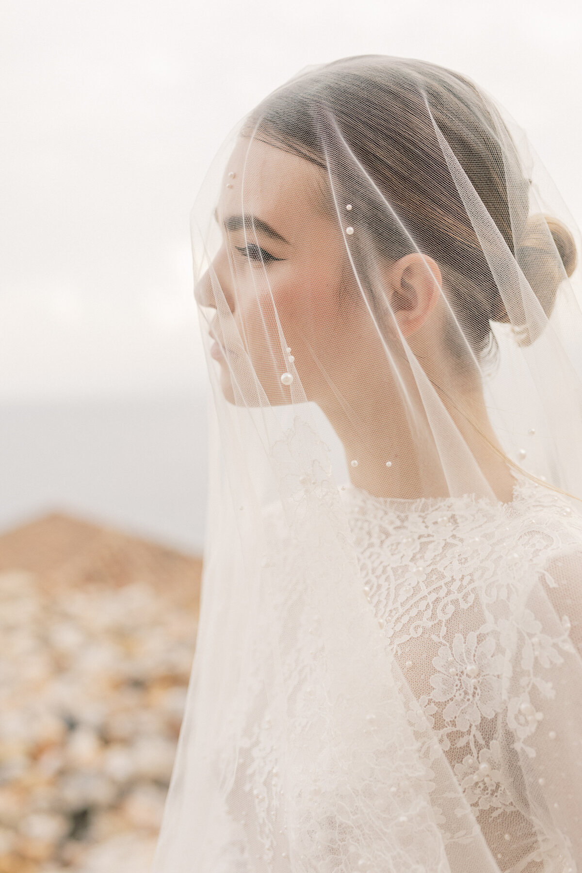 Bridal Portrait Editorial Photoshoot in Greece 8