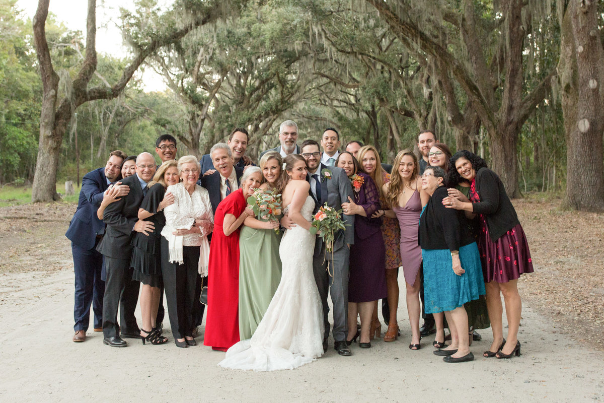 family group shot at wormsloe wedding