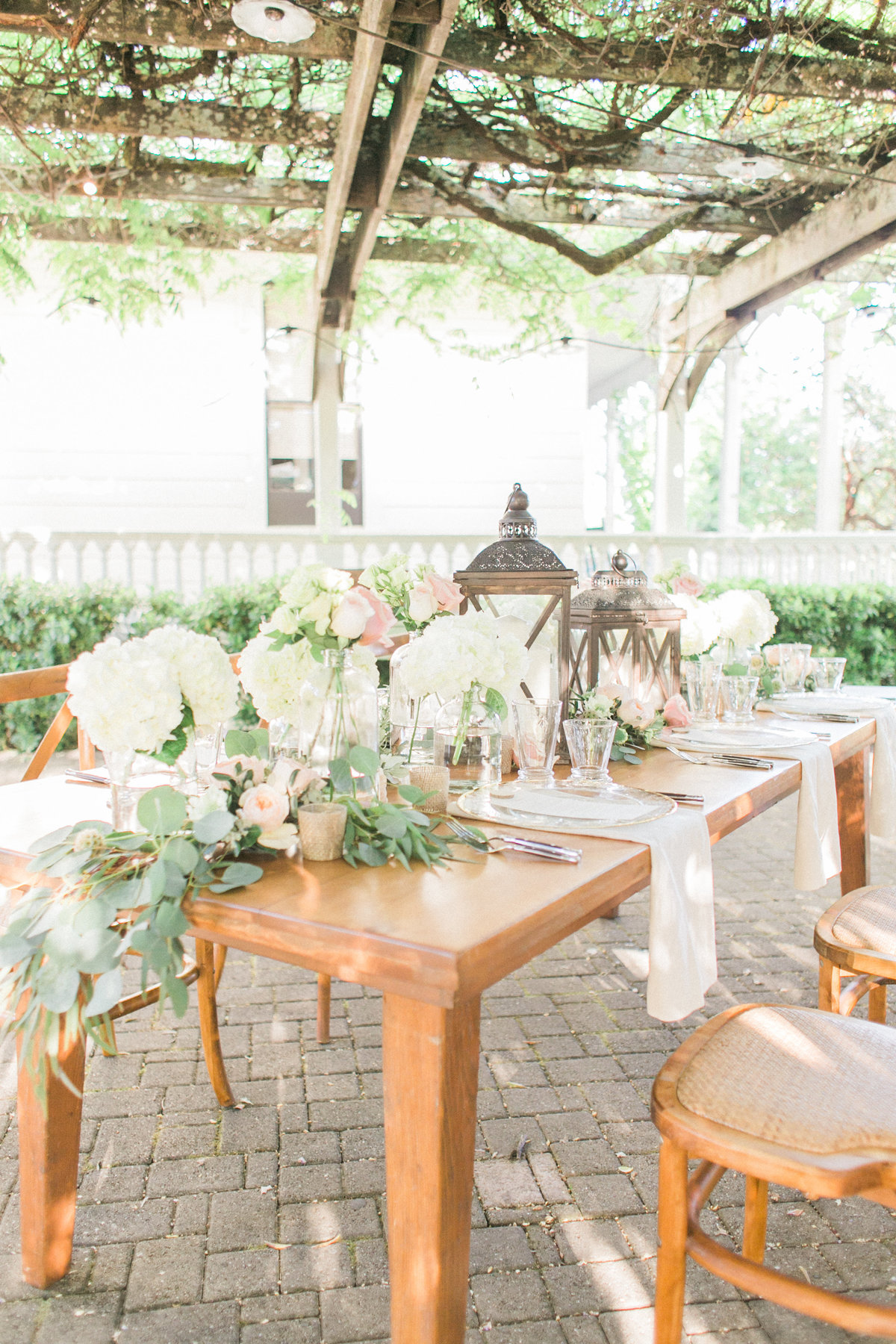 Farm Table Wedding Reception