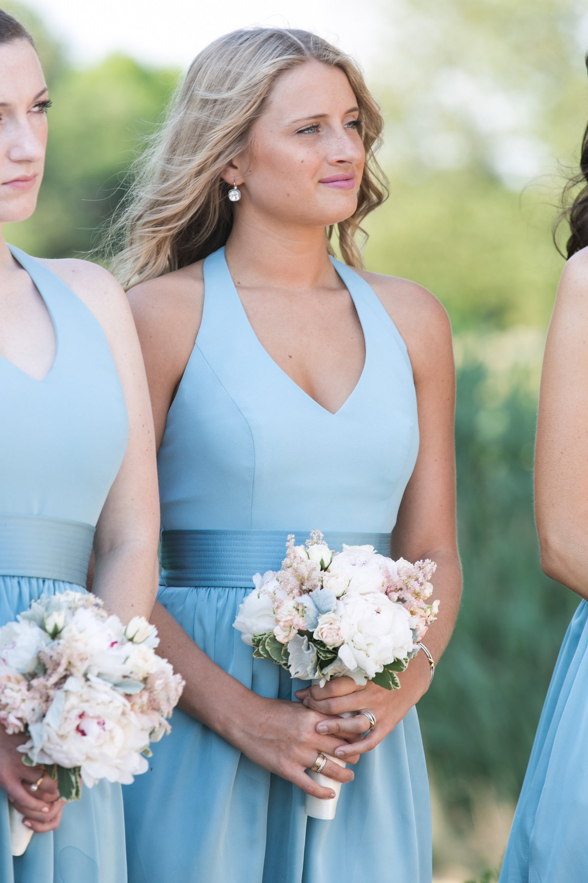 bridesmaid at Willow Creek Golf and Country Club wedding ceremony