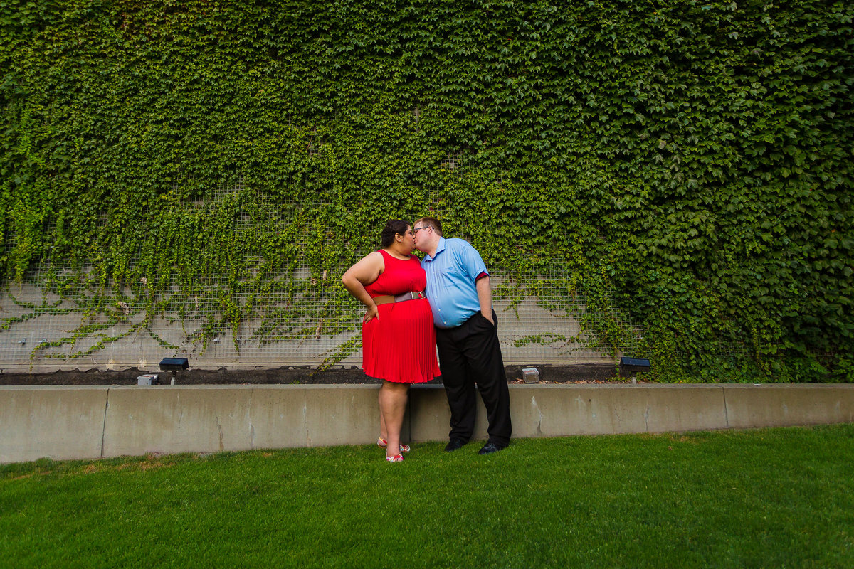 seattle center engagement photographer