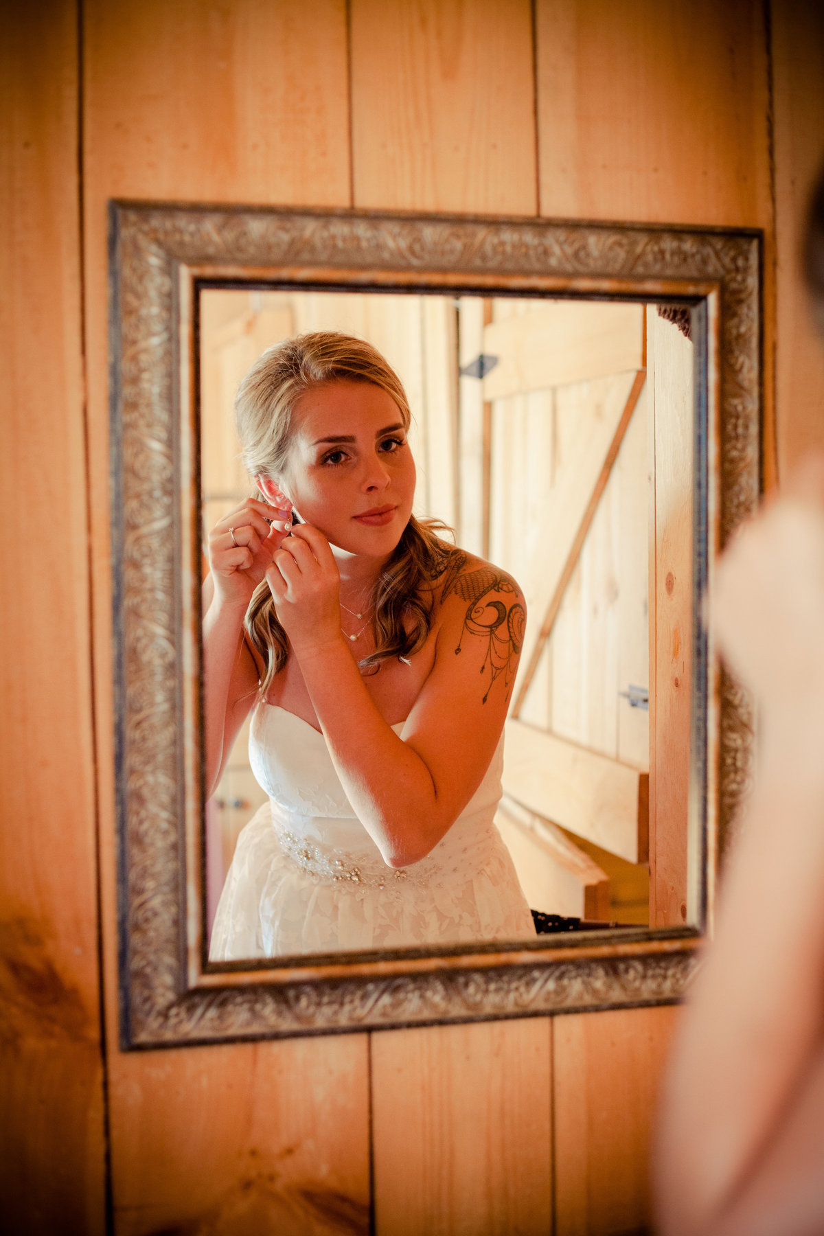 Bride Getting Ready Beantown Ranch