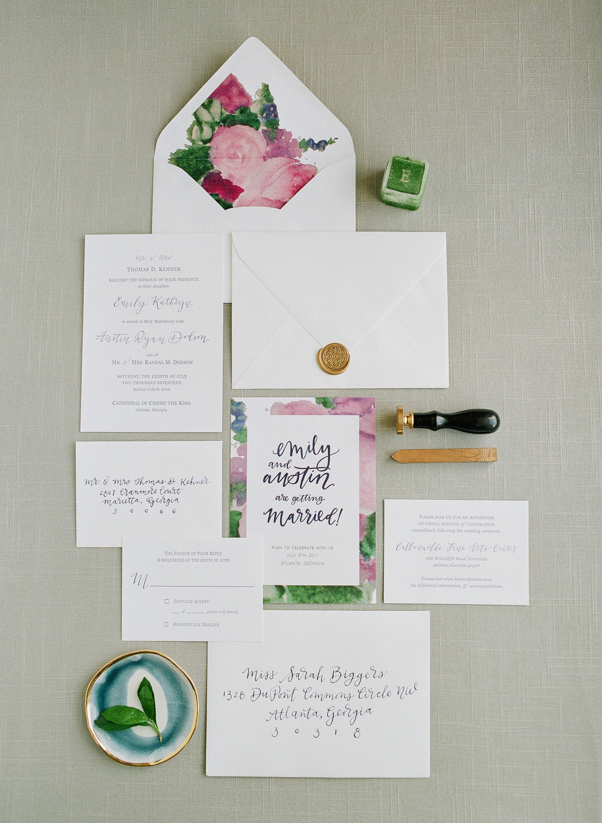 Classic Wedding Invitation Suite Atlanta Wedding