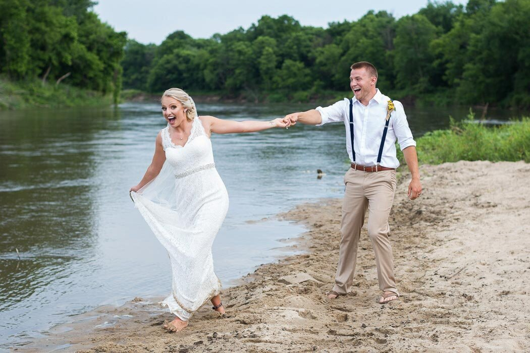 Destination wedding photography on a beach...but still in southeast Minnesota?  We're not sure how we did it either, but it sure was fun.