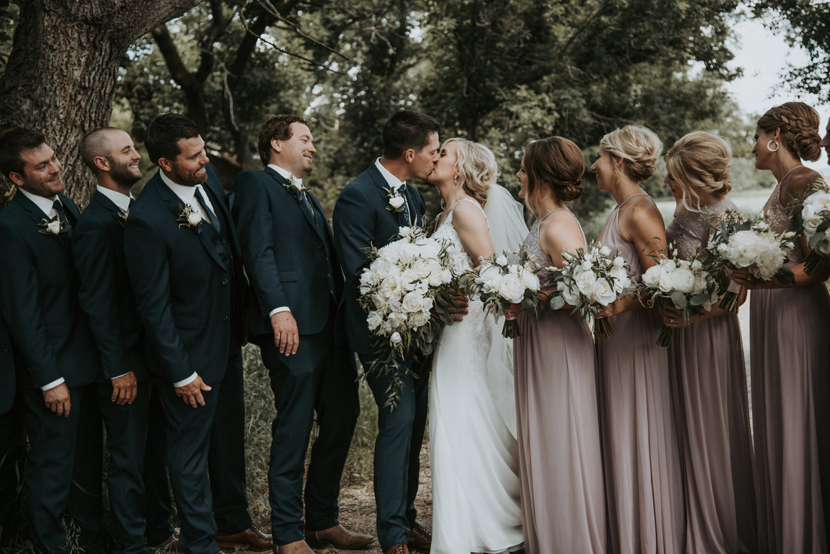 Elopement in Montana with bridal party