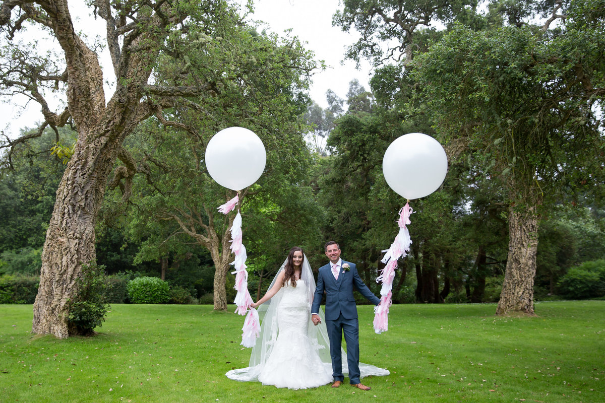 mount edgecumbe wedding giant balloons