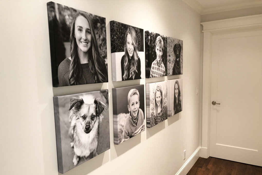 photography installation, family portraits