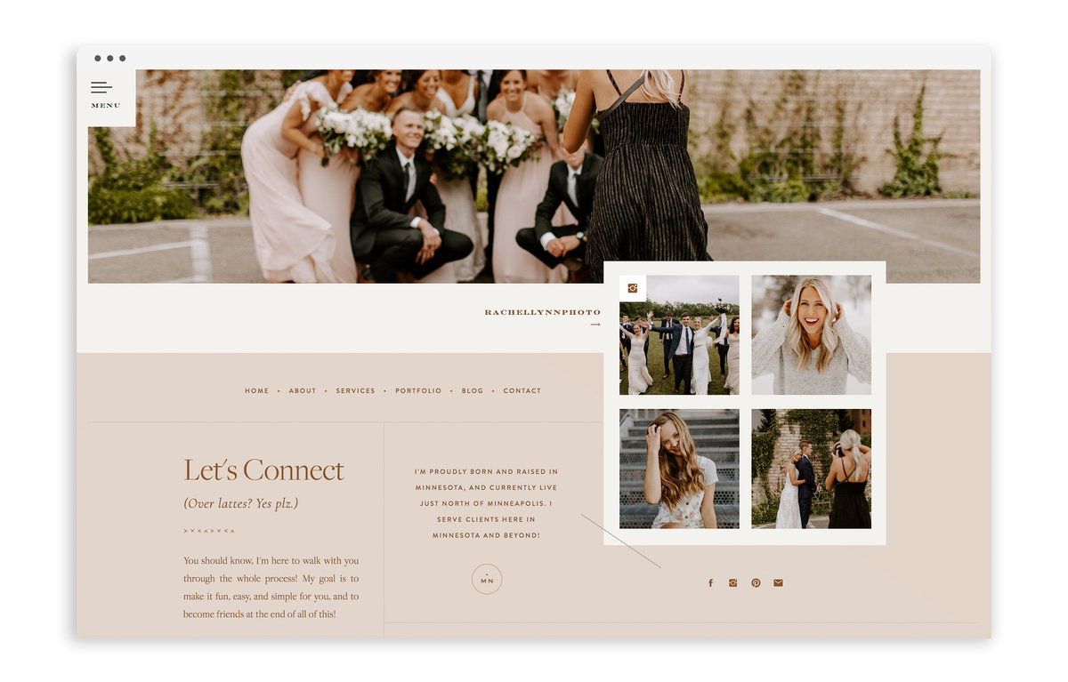 Rachel Lynn Photography - Custom Brand Logo and Showit Web Design Website Design by With Grace and Gold - Photo - 3