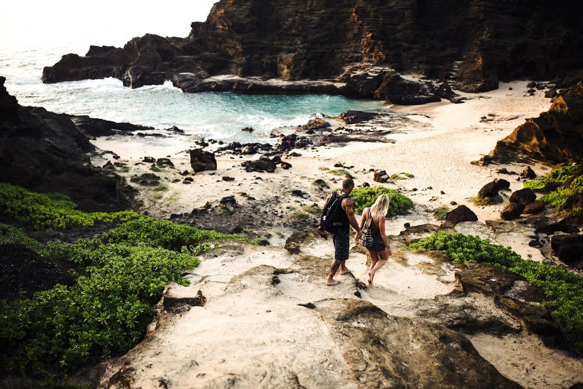 Eternity Beach Honolulu Hawaii Destination Engagement Session - 3