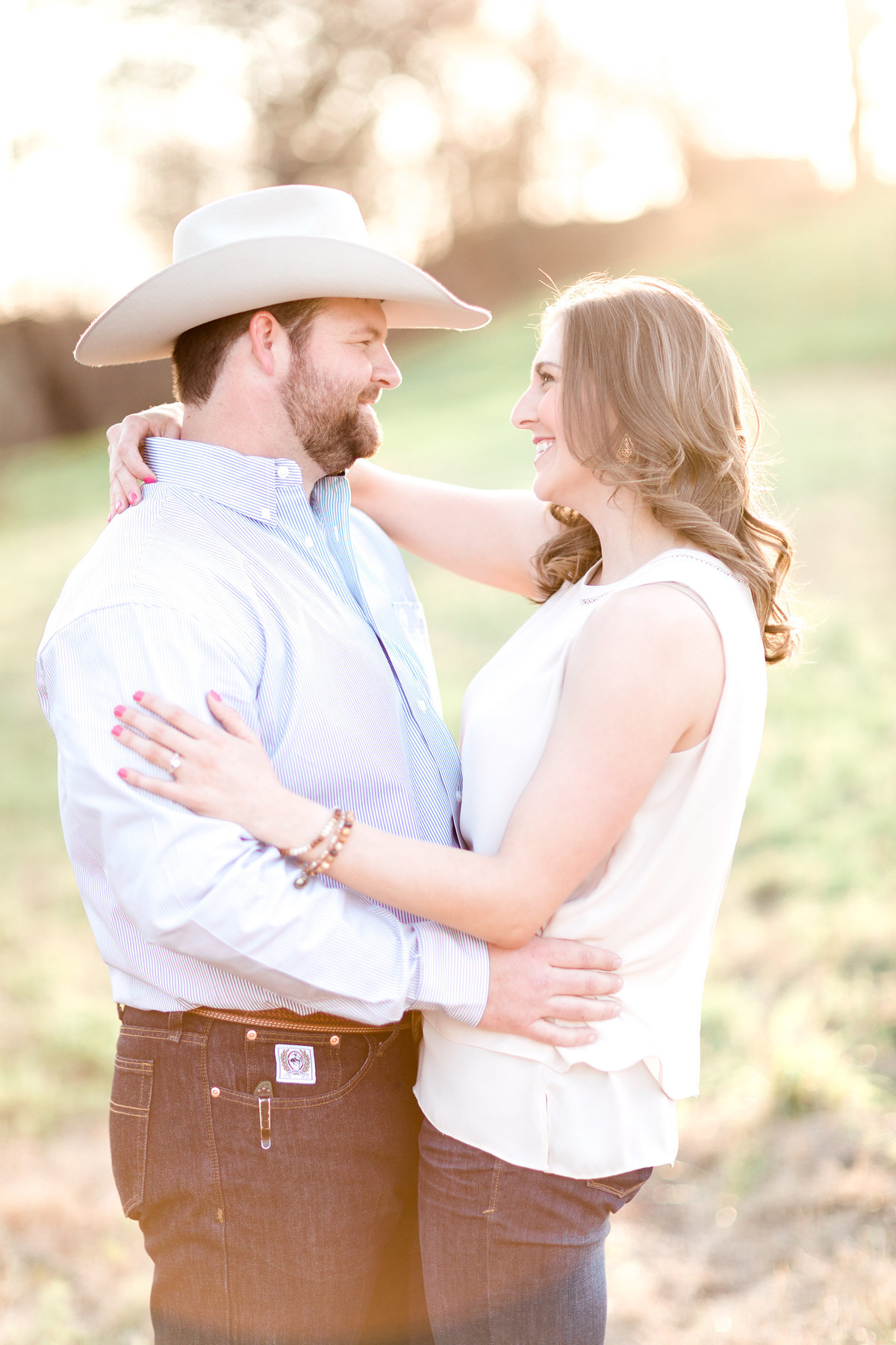 Washita Valley Sod Farm Ardmore Engagement Photography