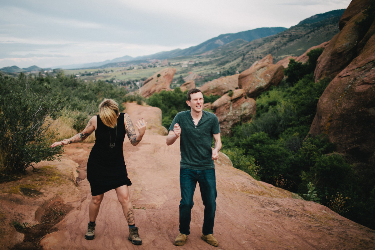 Red Rocks engagement session by Greenville wedding Photographer Simply Violet Photography