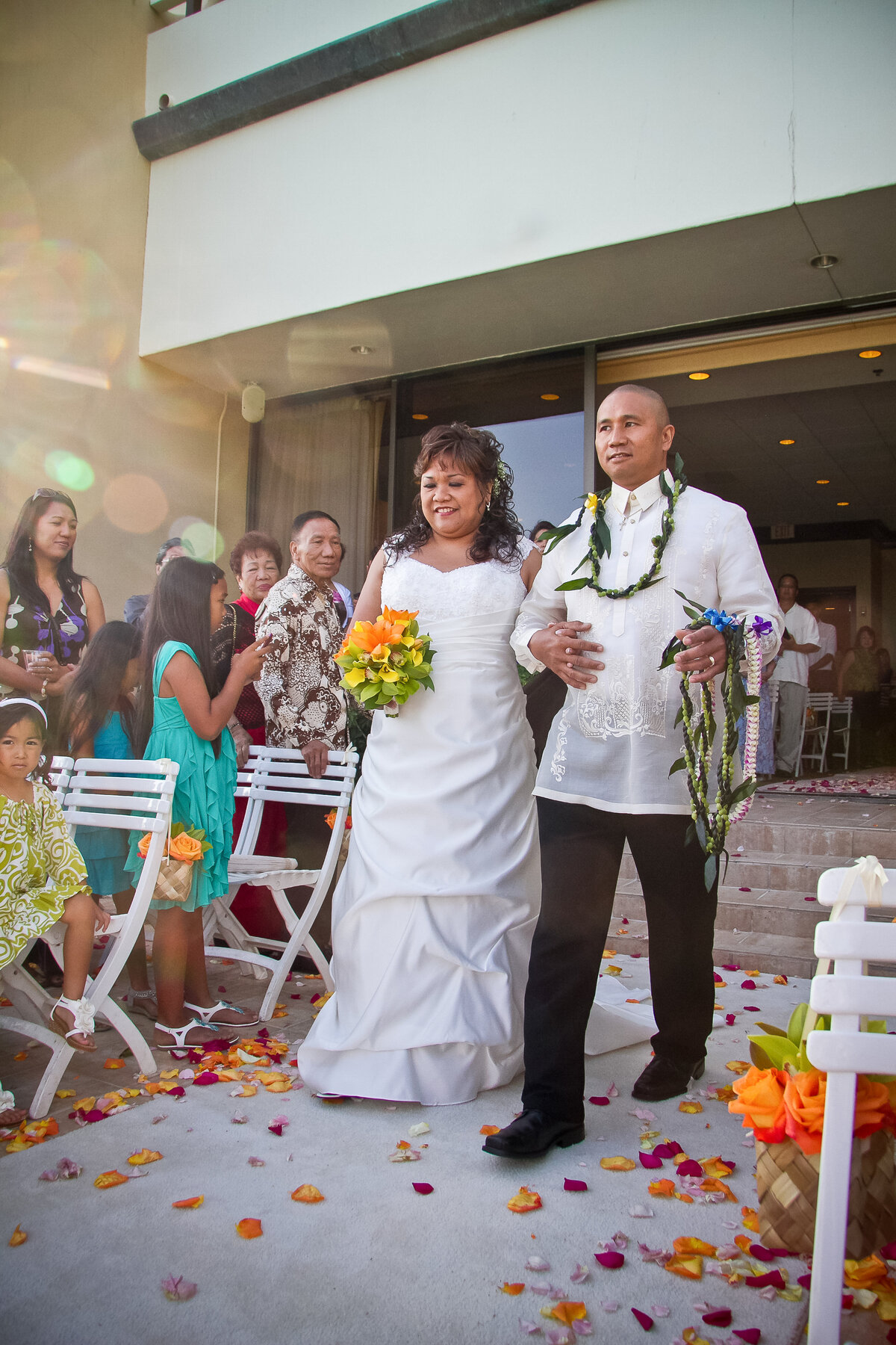 Bride and Brother Walk Down the Aisle, Sheraton Waikiki