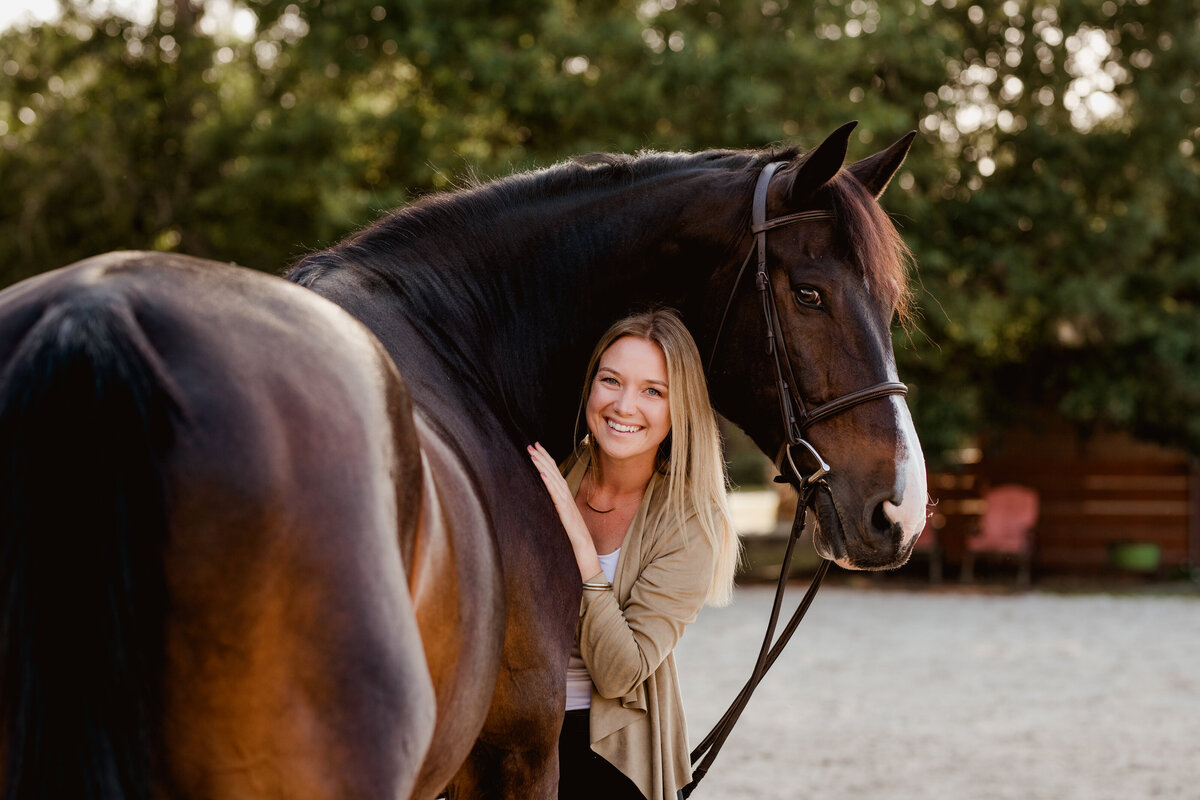 Dressage horse photography in Florida capturing the bond between horse and rider.