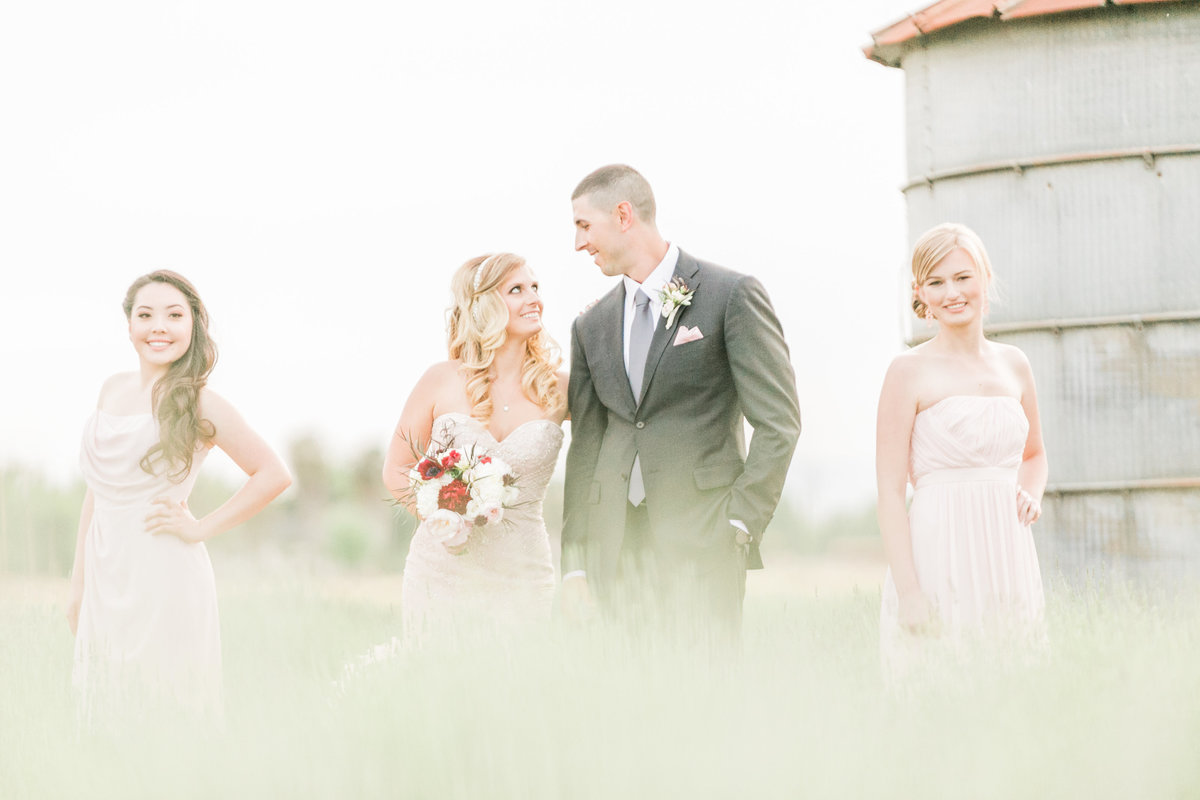 California Farm Wedding Party