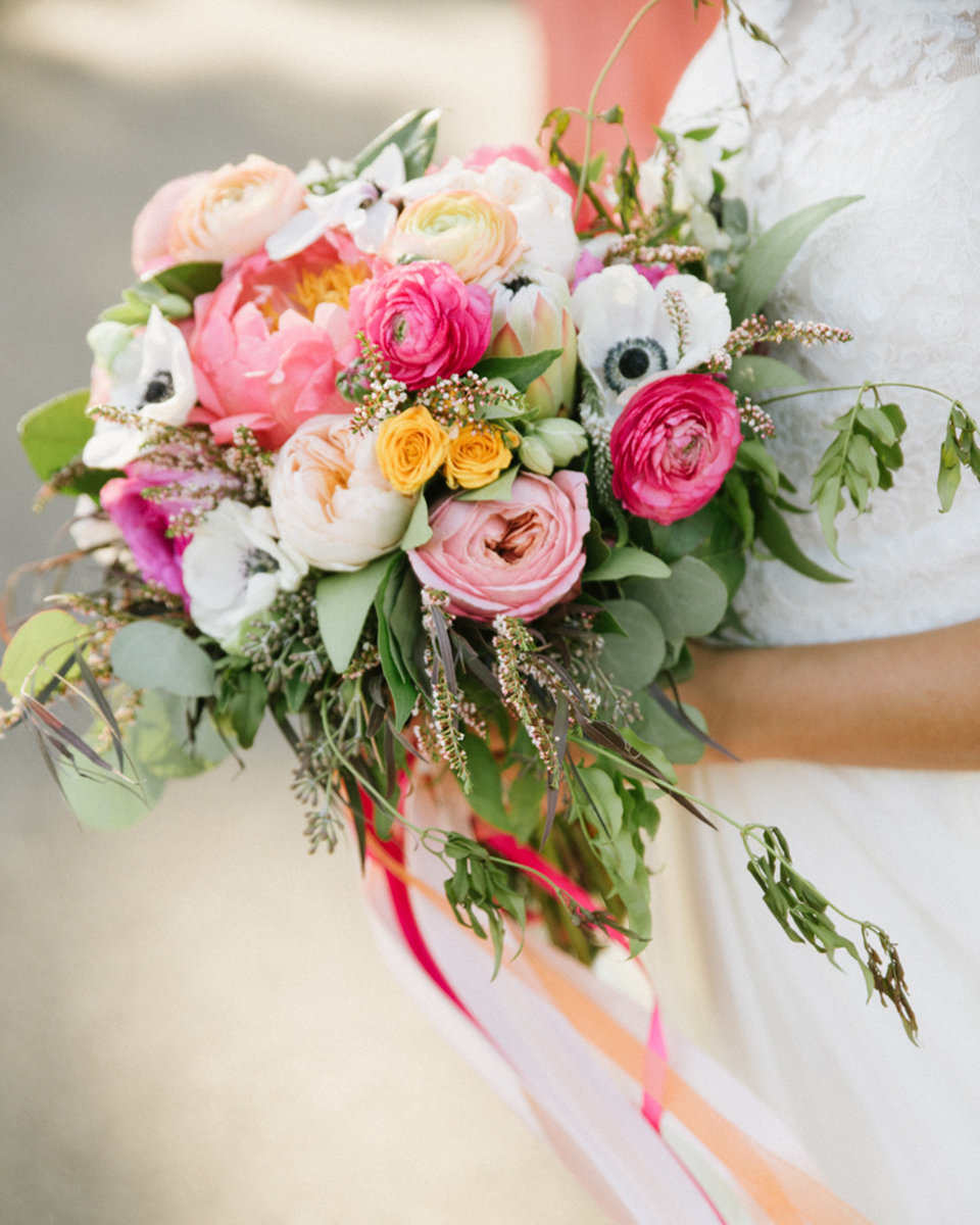 florals bouquet design pinks blush tones flowers whimsical bright