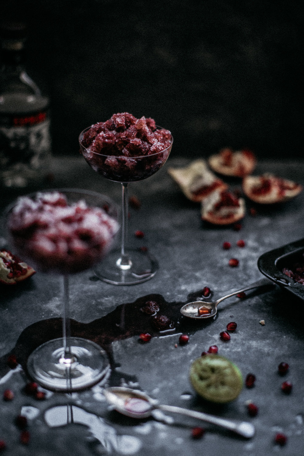 Pomegranate, Lime & Tequila Granita | Anisa Sabet | The Macadames-131