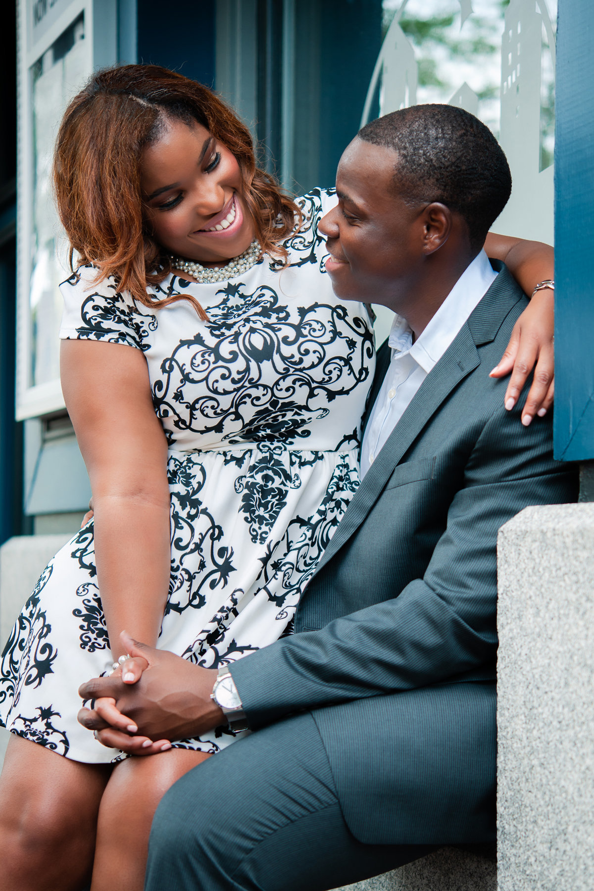 downtown memphis engagement photo