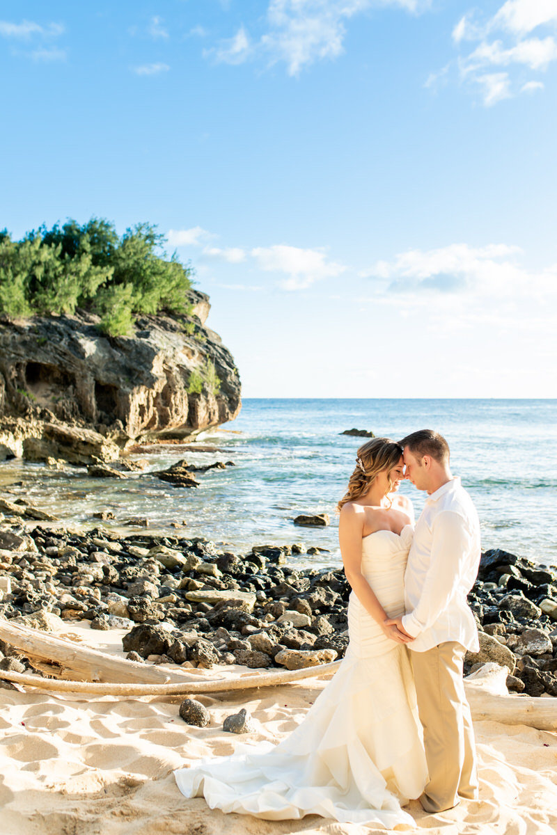 Beach wedding photo Kauai
