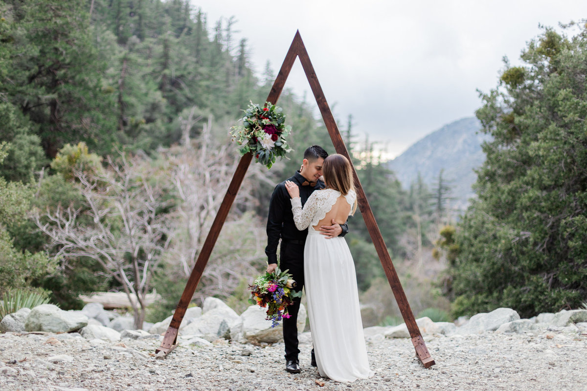 Mt. Baldy Elopement, Wildflower Bouquet, Mt. Baldy Styled Shoot, Mt. Baldy Wedding, Forest Elopement, Forest Wedding, Boho Wedding, Boho Elopement, Mt. Baldy Boho, Forest Boho, Woodland Boho S&W-31