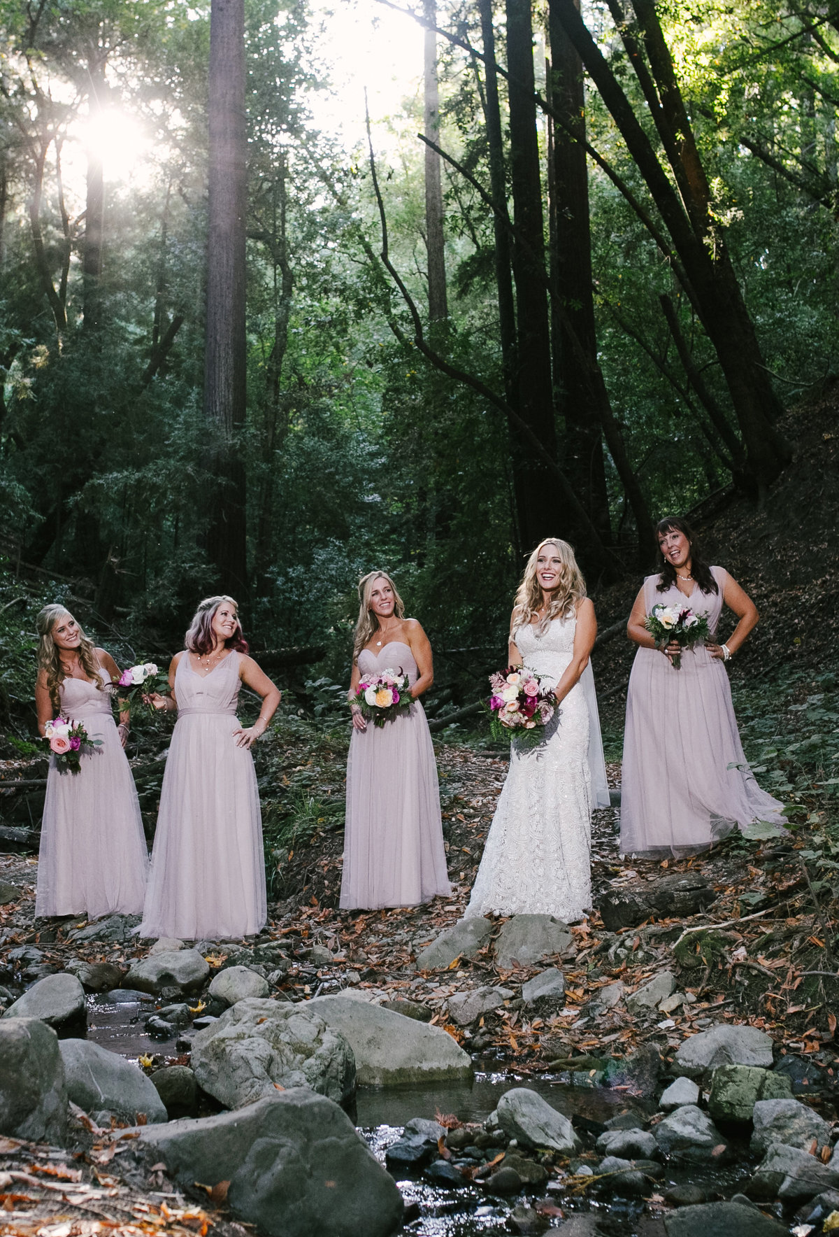 blush pink bridesmaid photos Bay Area, Ca