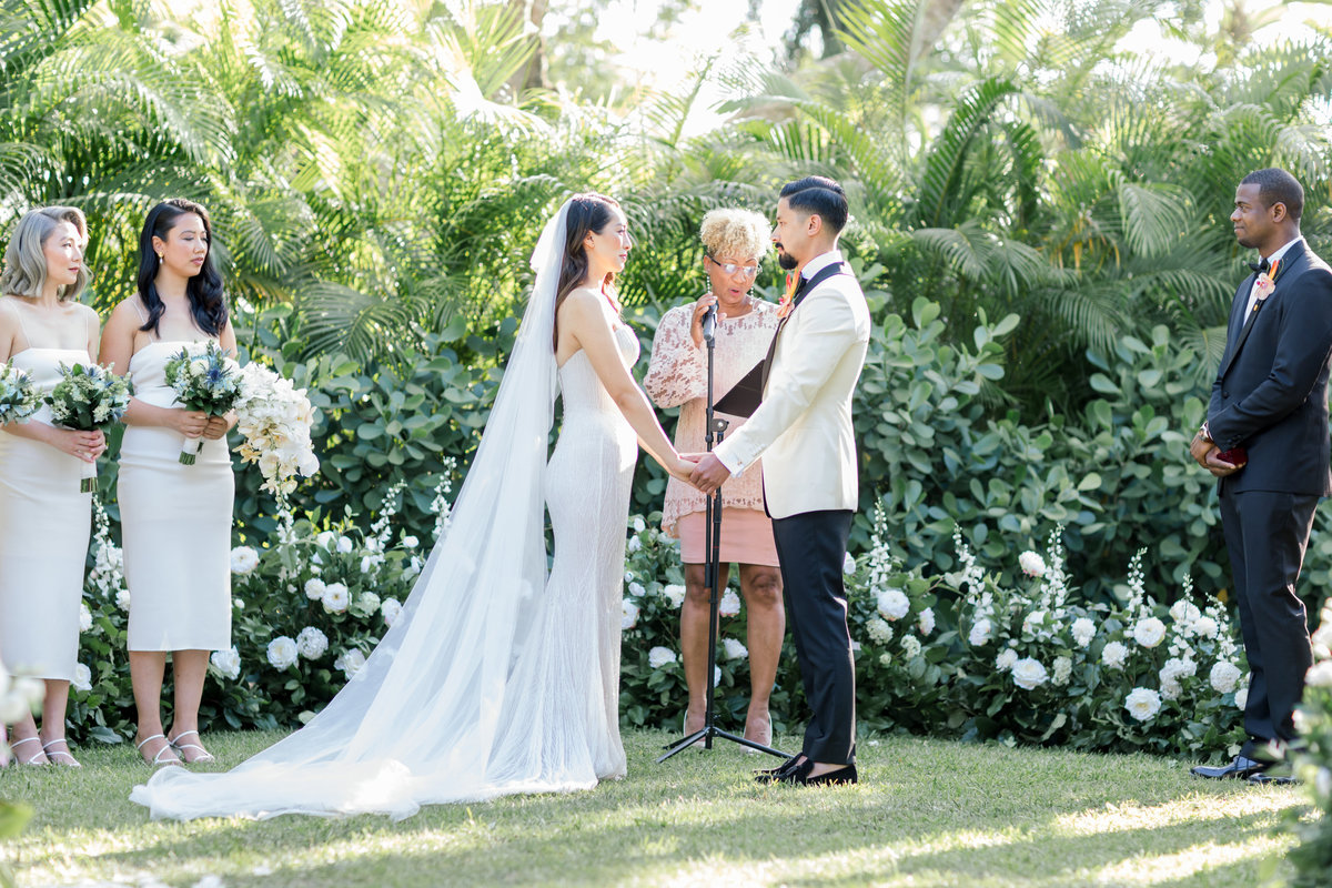 Miami Samsara Garden Wedding - Australian Bride and Groom
