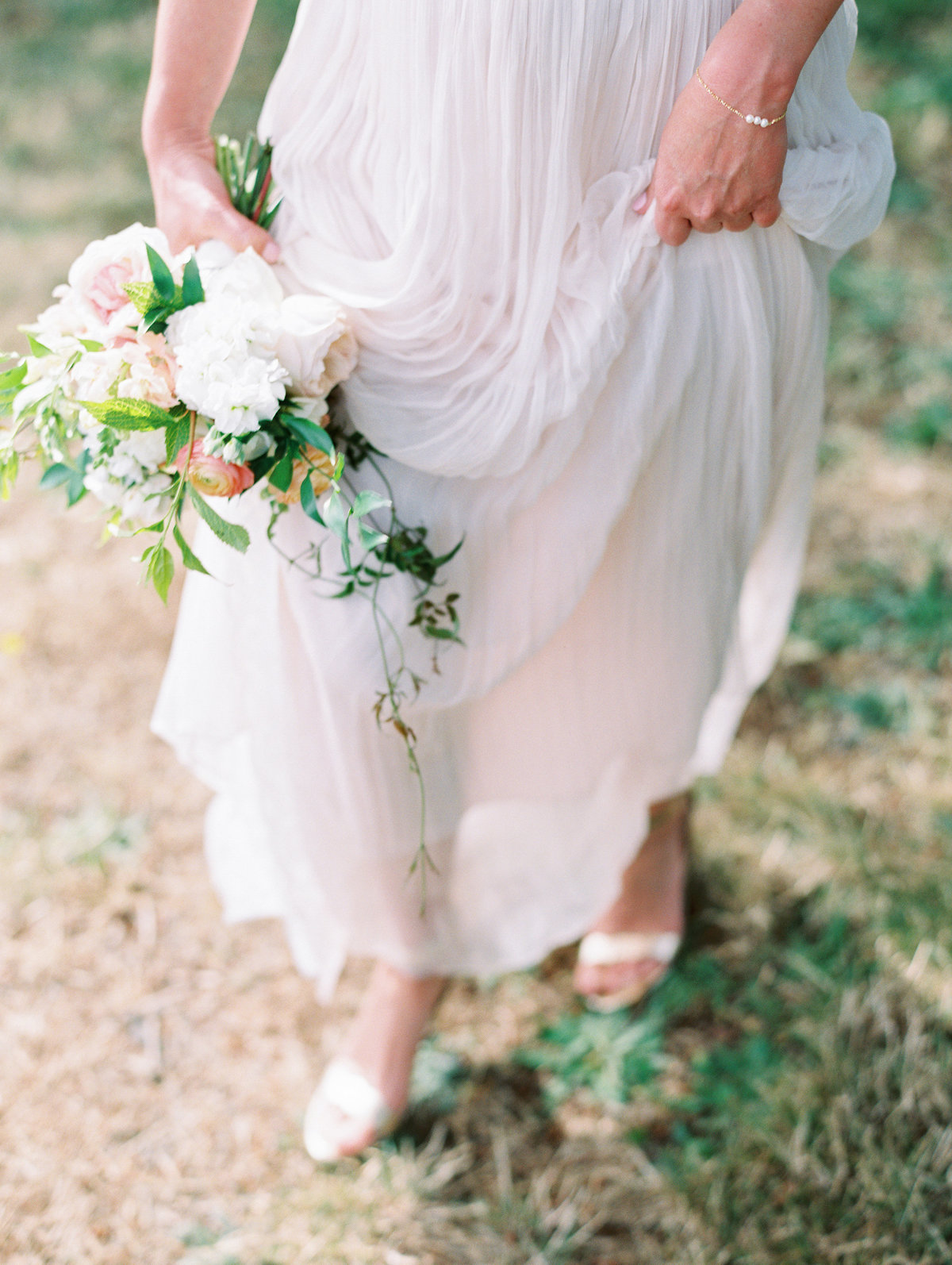 a bridesmaid wearing a BHLDN skirt