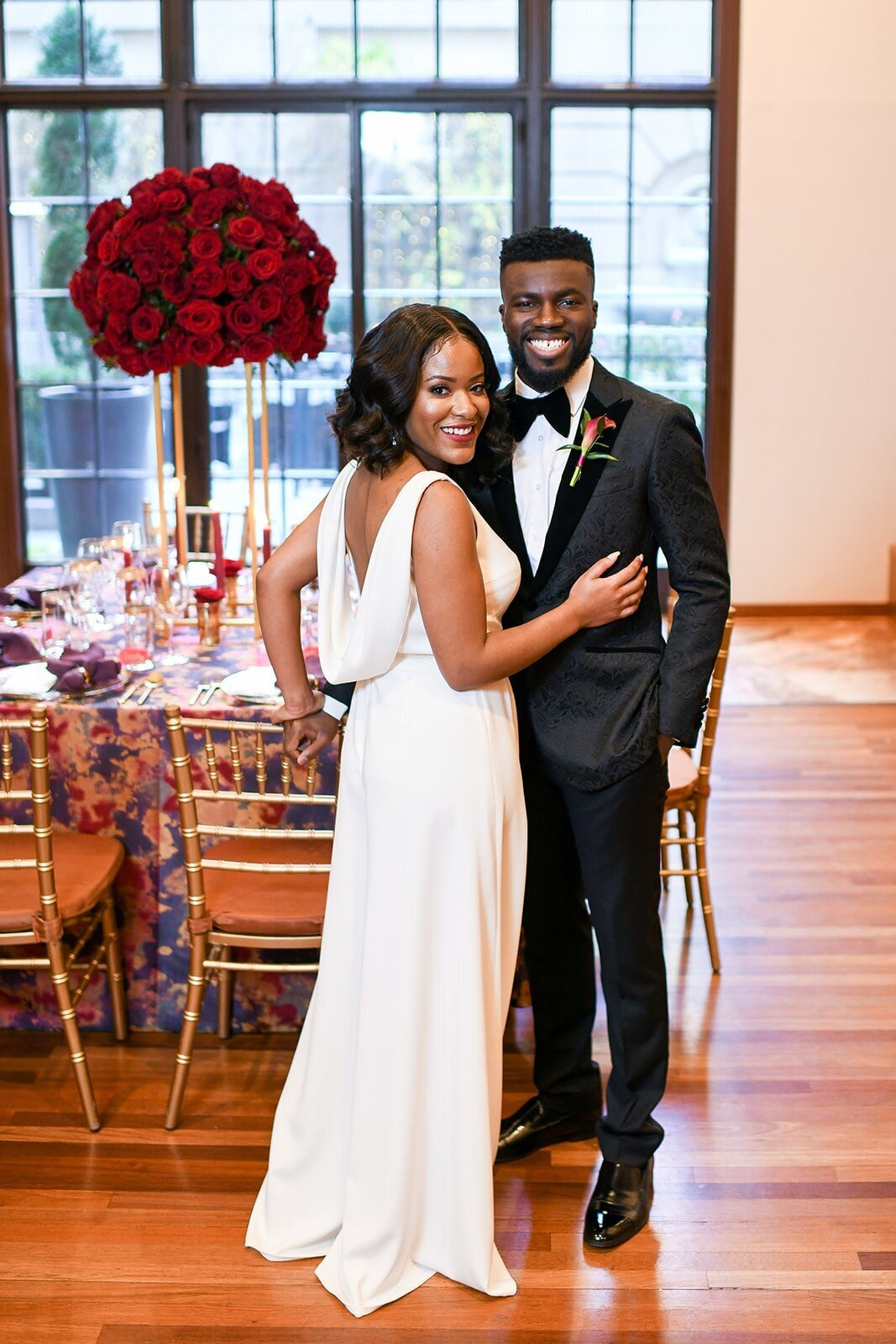 red-wedding-tall-smiling-bride-groom-receptions-klassy-kreations