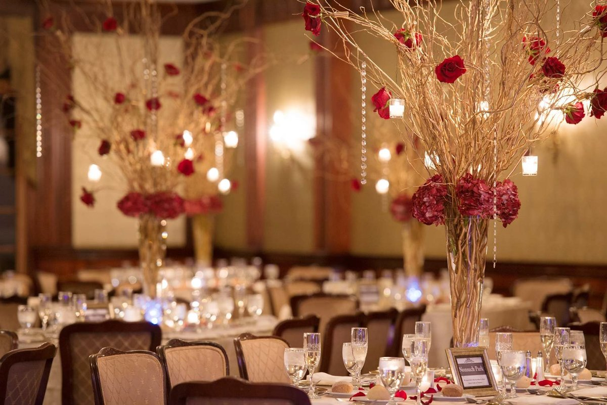 The Mansion at Oyster Bay wedding centerpieces