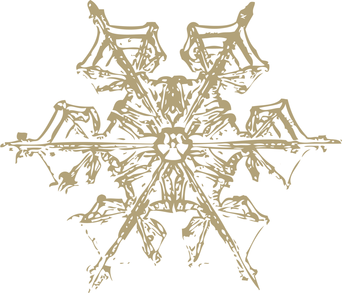 old gold snowflake 4