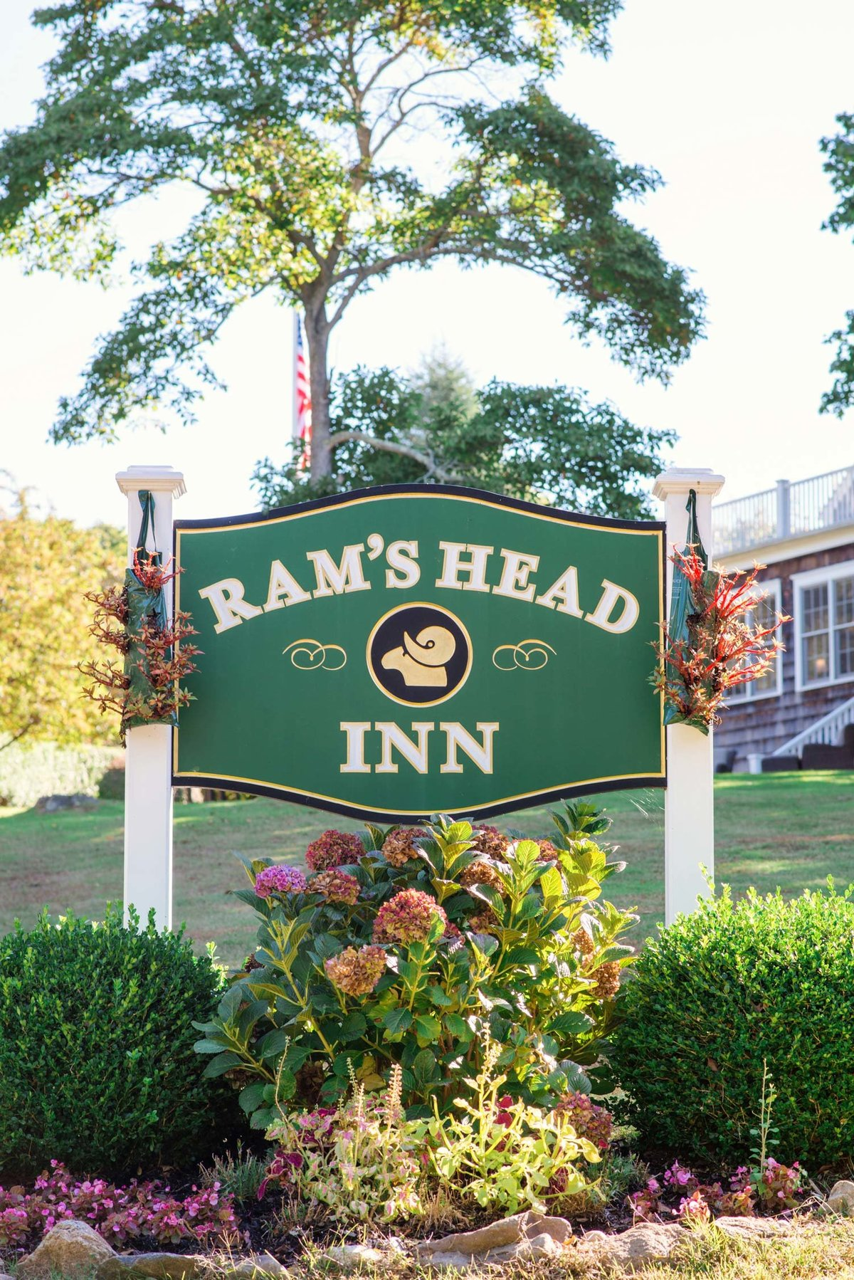 Ram's Head Inn sign at The Ram's Head Inn
