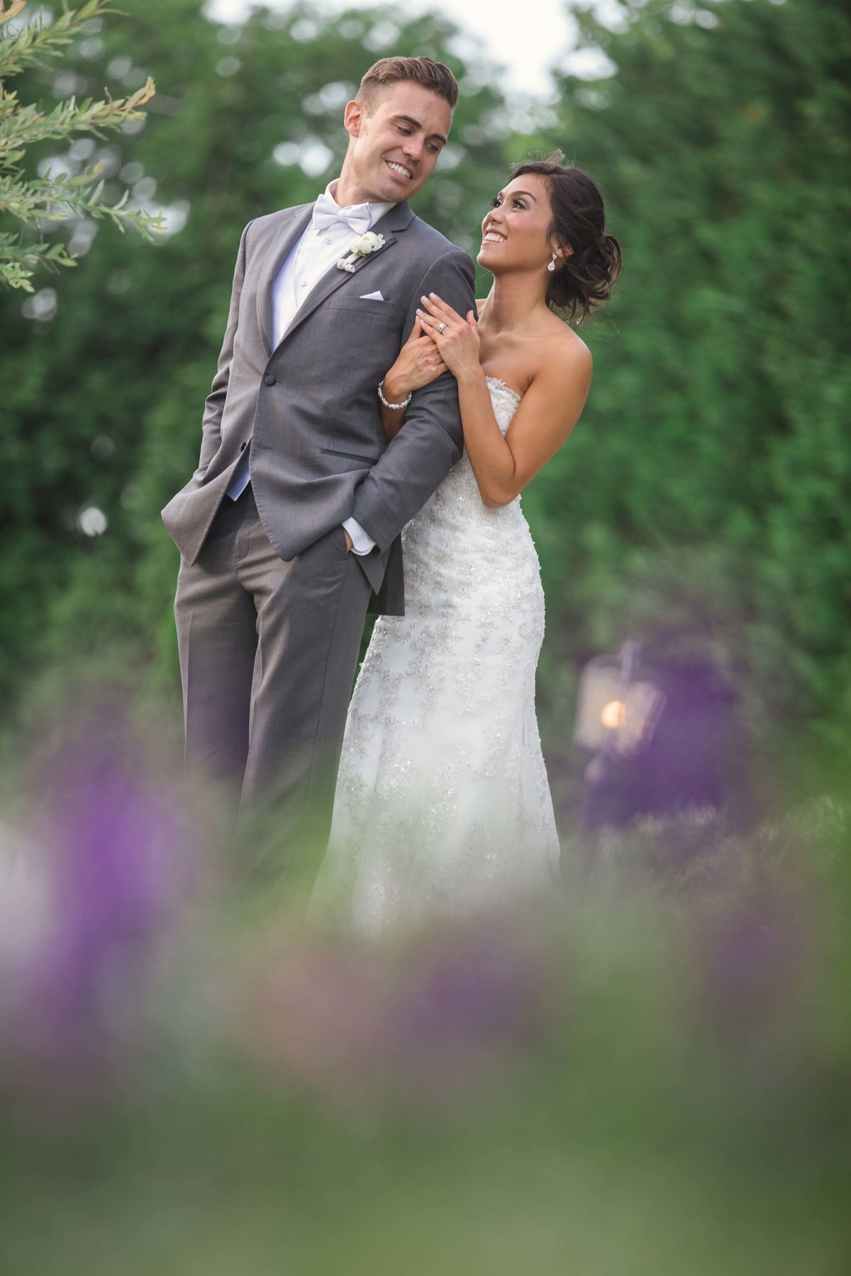 Bride and groom portrait from Larkfield Manor