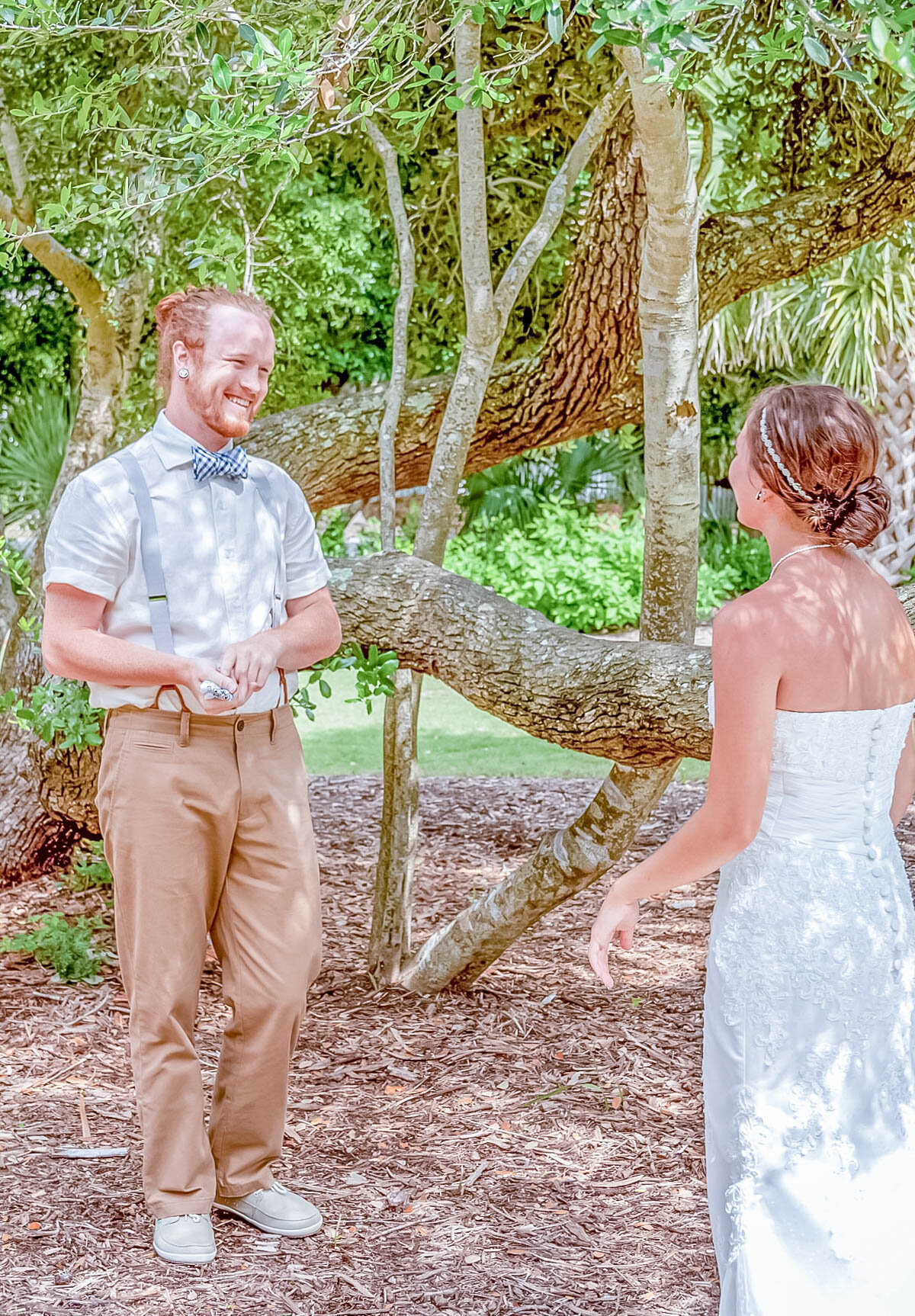 Bald Head Island Wedding Photography - Anna and Ray - Beach First Look 2 - Wilmington Photographers Team