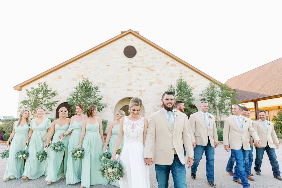 Wedding Party Walking in Hempstead, TX