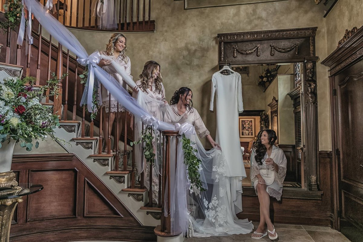 NJ Wedding Photographer Michael Romeo Creations wedding dress