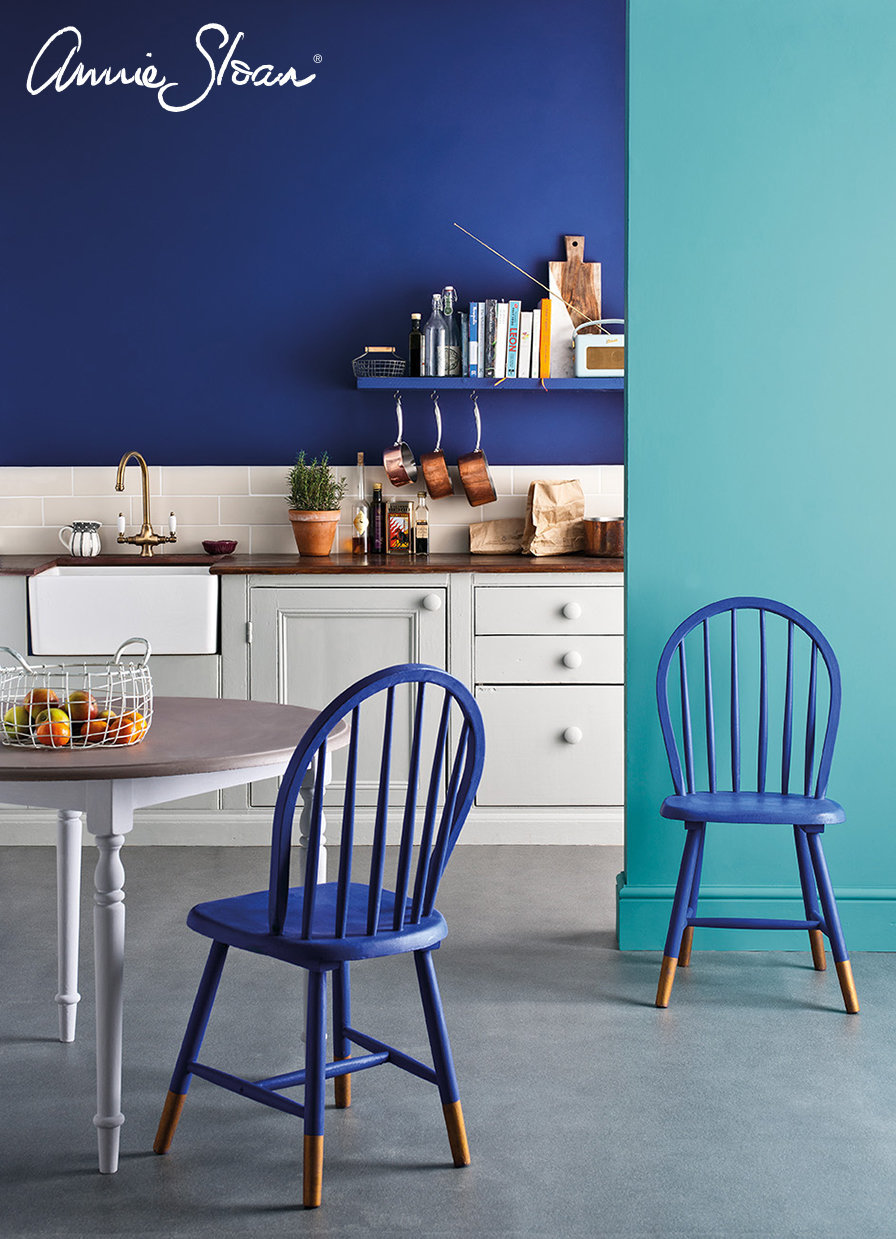 Napoleonic-Blue-kitchen-Provence-Paris-Grey-Mahogany-look-table-top-image-3