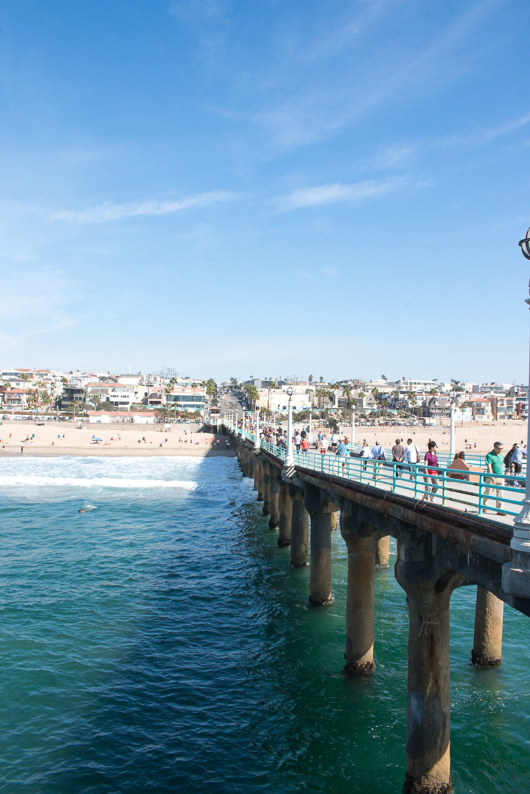 Southern California beach pier photography