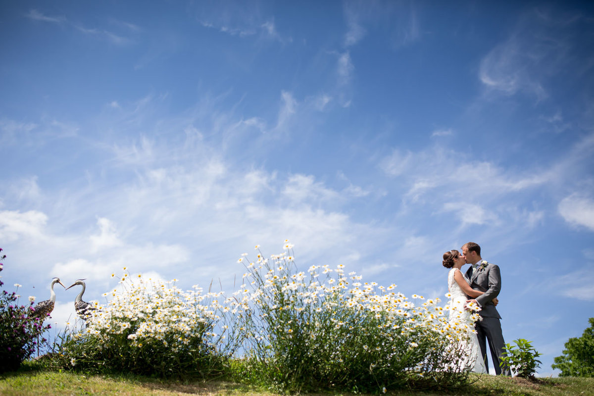 Wedding at Upton Barn in summer Exeter