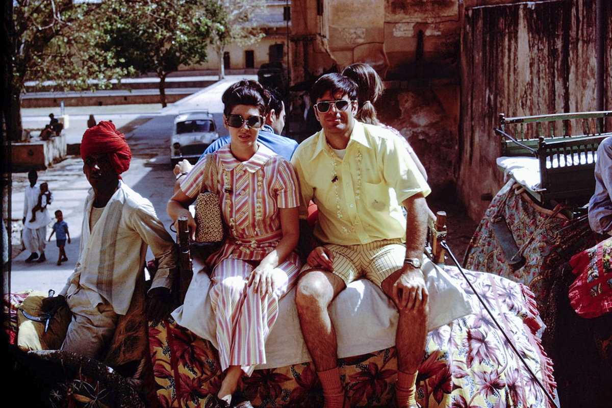 tourists in 1970s India
