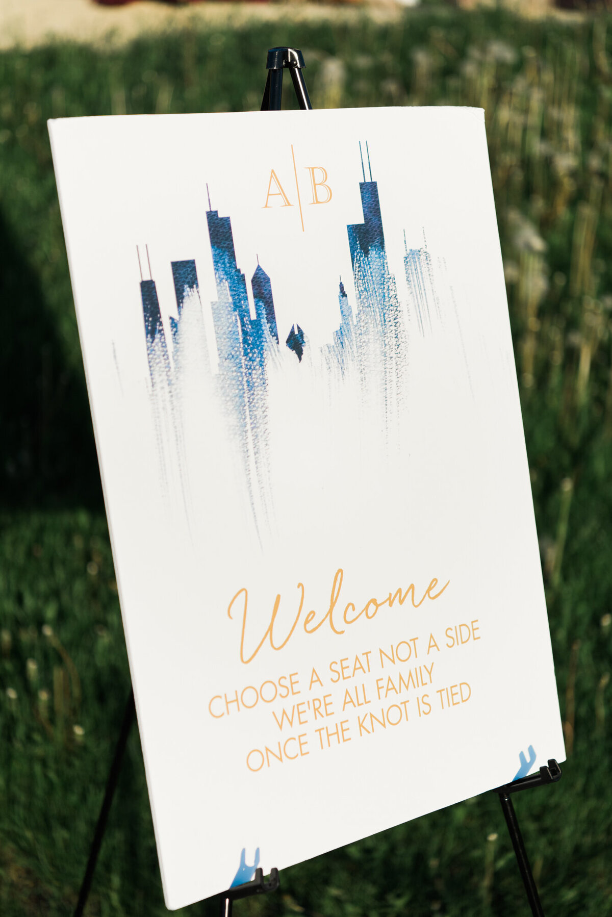 Custom wedding watercolor welcome sign
