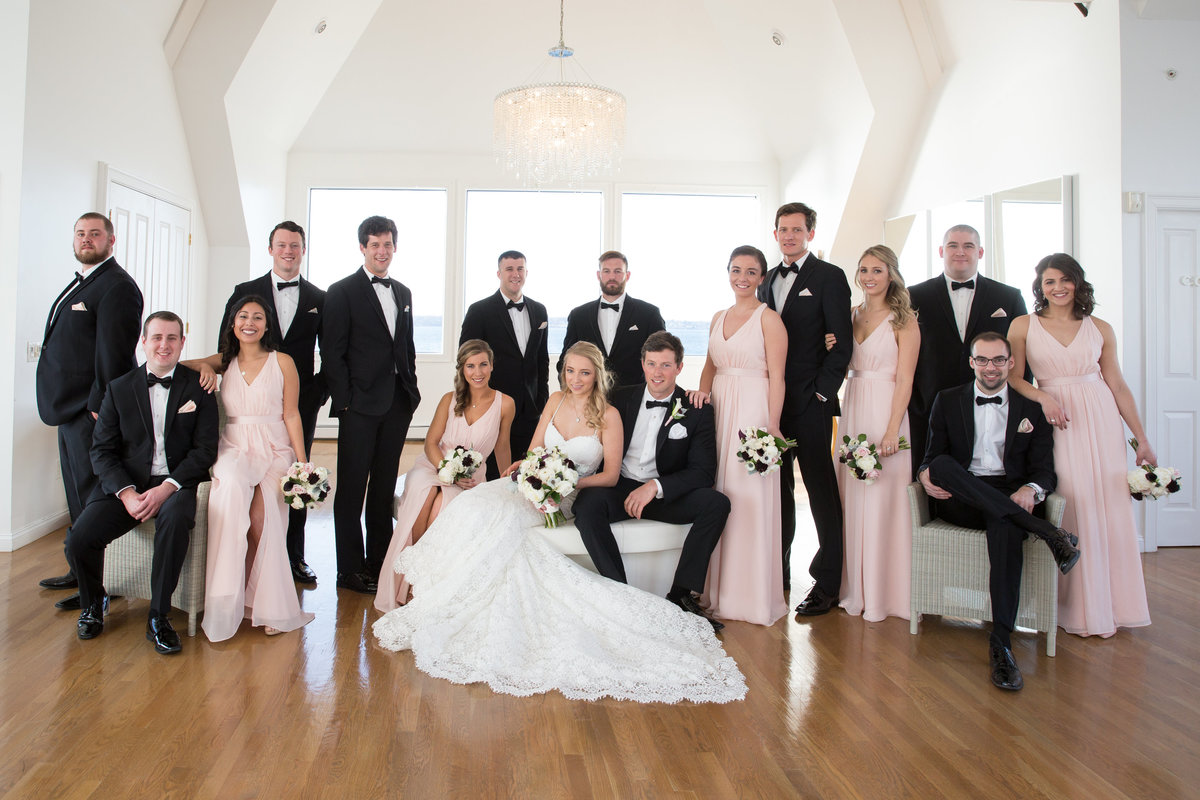 Bridal Party Portraits taken at the Island House at Belle Mer in Newport Ri