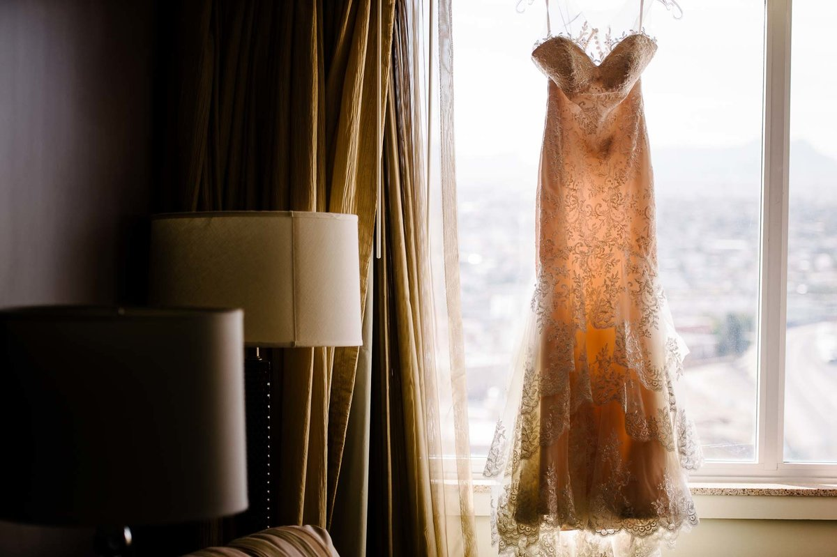 wedding dress at double tree hotel in el paso