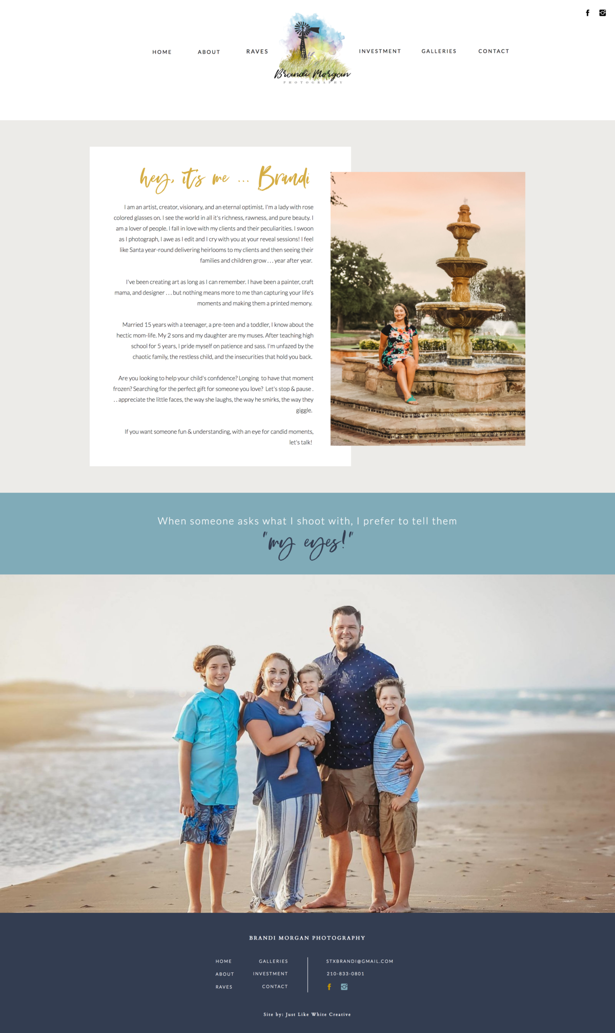 website design for family photography by Tribble Design Co.